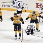 Blackhawks collapse in third as resilient Predators even series