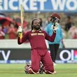 Gayle forces his way into World Cup record books with 215