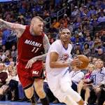 Thunder move three games ahead for eighth playoff spot with win over Miami