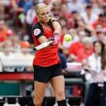 Jennie Finch will become the first female manager of a pro baseball team on Sunday