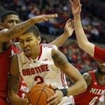 Men's college basketball: Ohio State takes its frustrations out on Miami of Ohio