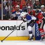 Injury-depleted Blackhawks escape Blues