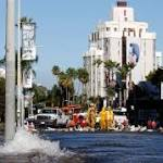 Water main break floods Hollywood's Sunset Strip, forces closure