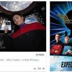 ISS Astronaut Samantha Cristoforetti Becomes First Person to Wear a Star Trek ...