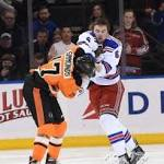 Rangers get payback with fight-filled 3-1 win over Flyers