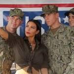 Kim Kardashian Visits With Troops On the USS San Diego
