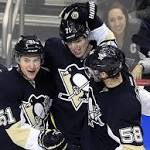 Penguins win 4th straight, top reeling Blue Jackets 5-3