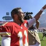 Alex Smith's teammates were thrilled for him following the Chiefs' comeback win over San Diego