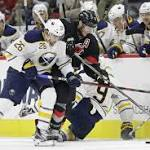 Larsson scores late, Sabres rally to beat Hurricanes 3-2