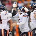 Cutler brushes off mistakes, lifts Bears into first place