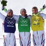 Olympics-Freestyle skiing-French medallists look after number one, and each other