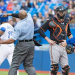 Bautista hit by pitch, Gibbons ejected
