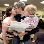 4 same-sex couples get Cass marriage licenses