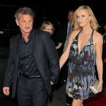 Charlize Theron, in Stuart Weitzman, Steps Out With Sean Penn