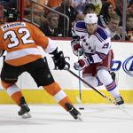 Rangers sluggish in 4-2 loss to Flyers