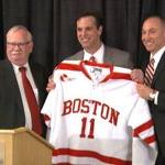 Boston U. introduces David Quinn