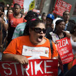 Fast-food workers rally for raises
