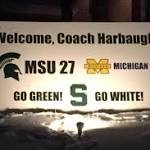 Michigan State Fans Poke Fun at Jim Harbaugh with Banner About Loss