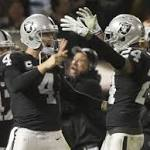 Raiders top Chargers in Woodson's Oakland finale
