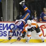 Mason stands tall, takes Flyers' win over Isles in stride