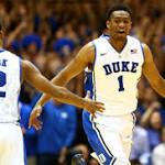 Duke's Jabari Parker says hello
