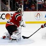 Devils forwards Elias, Henrique leave game