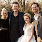 Gwen Stefani & Blake Shelton Show PDA at Beautiful Bride RaeLynn and Josh Davis' Wedding