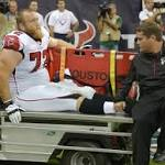 Falcons LT Sam Baker out for the year with knee injury