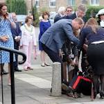 Prince William Rushes to Help Dignitary Who Fell Over at School Tour with Princess Kate