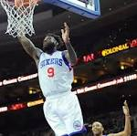 Sixers throttle Pistons to end 6-game losing streak