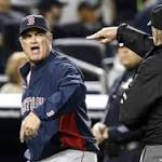 Red Sox Manager Ejected After Replay Dispute