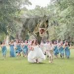 La. man's 'Jurassic' wedding photo goes viral