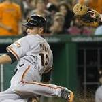 Baseball roundup: Giants end Nats' winning streak with 10-3 victory