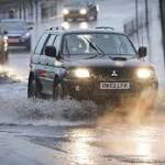 Storm desmond causes roads chaos in north and scotland