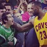 Lebron James takes timeout to greet Celtics fan with special needs