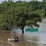 Texas floods: Water 'lapping at the front doors' as evacuations underway