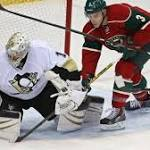 With Greiss in goal to give Fleury a break, Penguins win 4-1 to hand Wild 1st ...