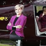 SNP leader Nicola Sturgeon takes to the skies in presidential helicopter