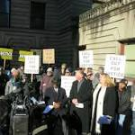 Officer Reinstatement Draws Protesters To Portland City Hall