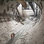 Stubborn concrete slows work on Bertha's repair by a month