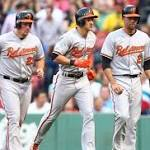 Baltimore Orioles lifted by David Lough's three-run homer