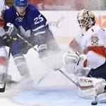 Panthers squander lead twice as Maple Leafs win 3-2