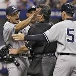 Rays beat angry Yankees 6-1 after Jeter gets hit