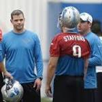 Offensive coordinator Joe Lombardi's comments following Lions' workout