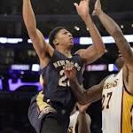Davis takes scoring lead as Pelicans drub Lakers