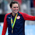Gwen Jorgensen wins first gold medal for US women in triathlon