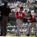 Nationals' Bryce Harper ejected against Pirates - USA Today