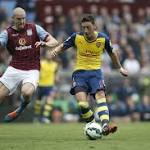 Arsenal scores three goals in 192 seconds against Aston Villa