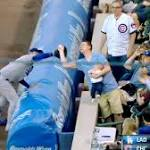 Fan with baby upstages Dodgers' Adrian Gonzalez and Cubs' win