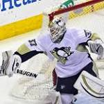 Pens' Zatkoff shuts out CBJ for 1st NHL win, 3-0